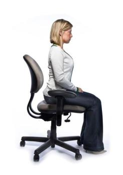 sitting up position