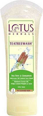 Lotus Herbals Tea tree wash and cinnamon anti-acne face wash