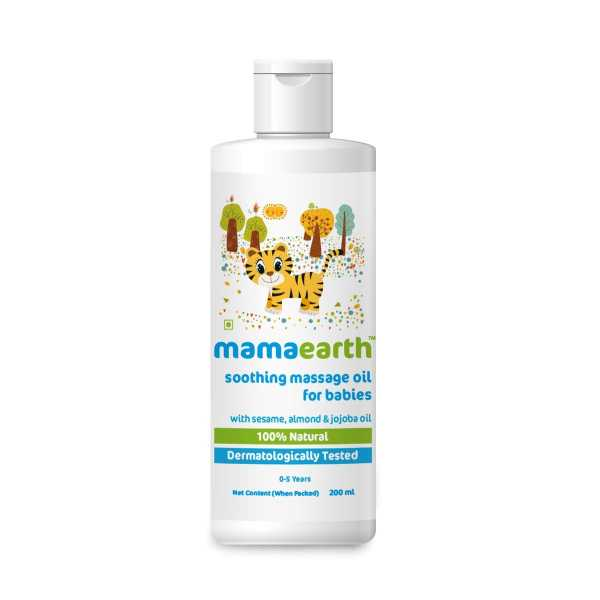 Mamaearth soothing massage oil for your babies